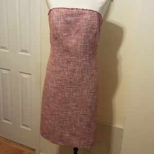 Banana Republic Strapless Tie Back Tweed Dress 16